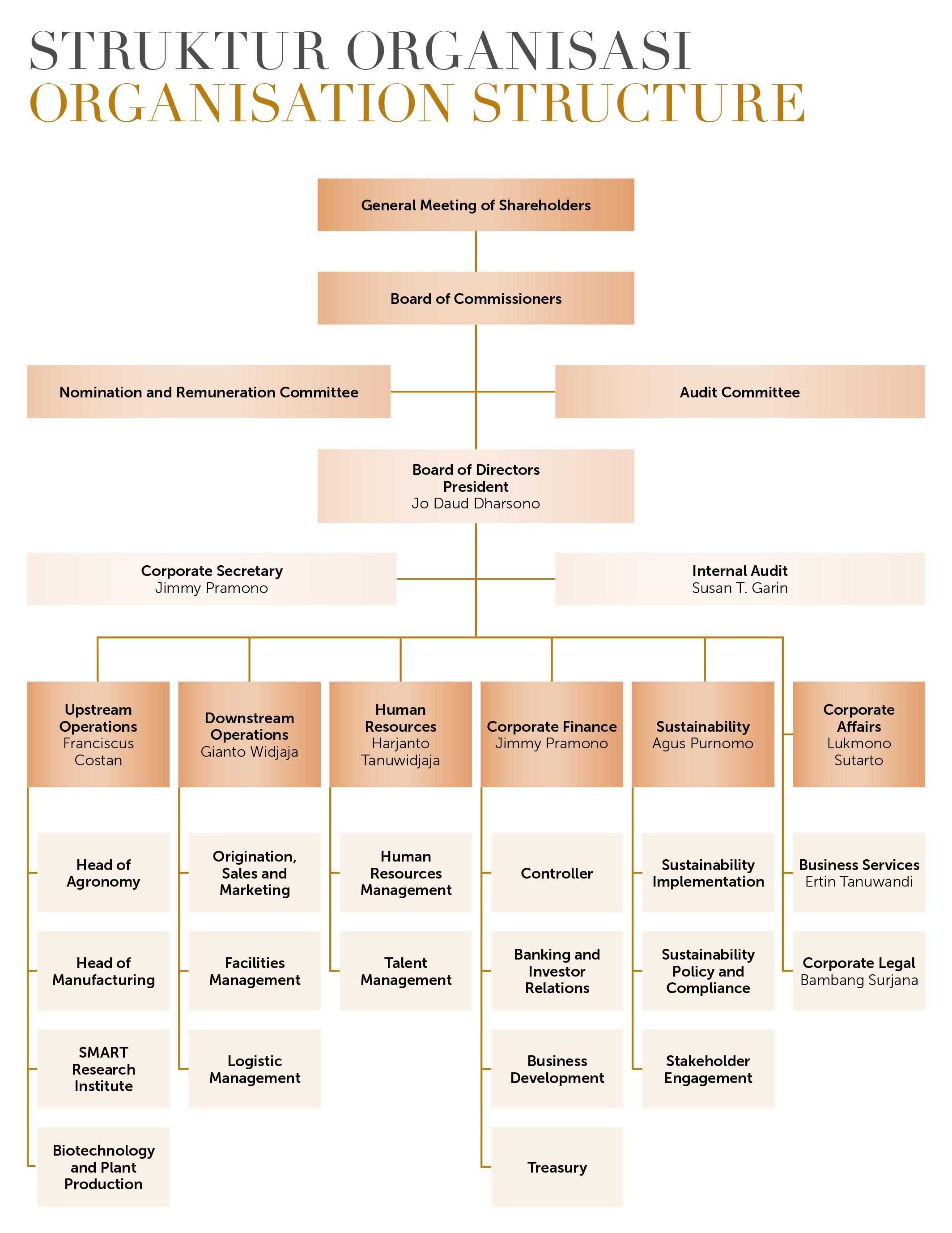 Struktur Organisasi - PT Sinar Mas Agro Resources and
